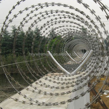 concertina razor wire 2019Hot Sale safety razor wire Fence  stainless steel razor barbed wire
