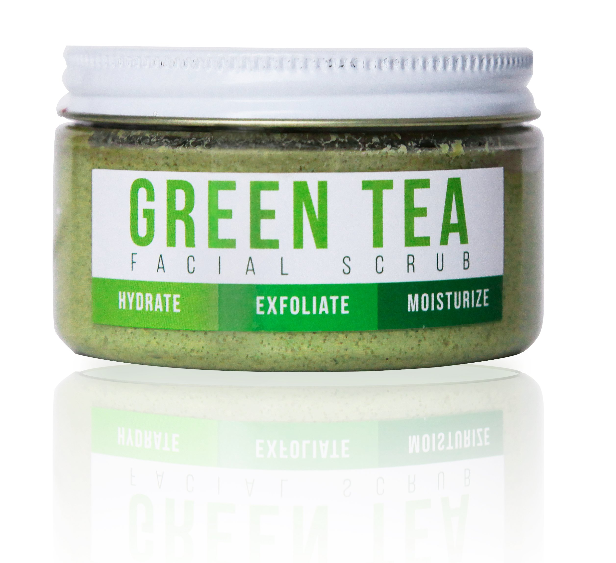 GREEN TEA DETOX FACE SCRUB By Teami | 100% Organic Facial Scrubs | Exfoliate, Hydrate, & Moisturize All Skin Types | with Lemongrass for Blemishes & Blackheads, and the Best Exfoliating Sugar.