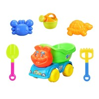 infant toys store kids sand and water play table 6PCS fun beach toy with lovely car