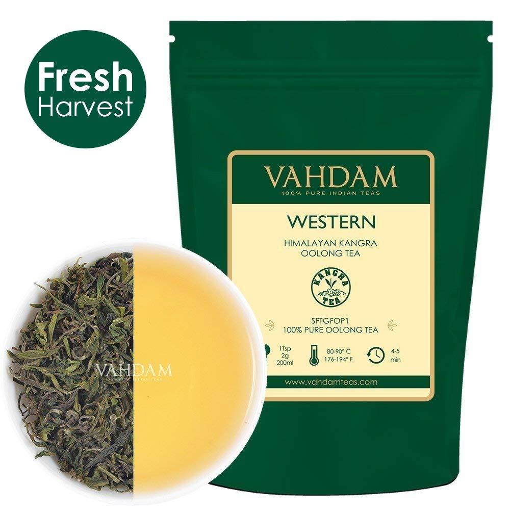 VAHDAM, Western Himalayan Oolong Tea Loose Leaf (50 Cups) | 100% PURE Oolong Tea Leaves | POWERFUL ANTI-OXIDANTS | Oolong Tea For Weight Loss | Natural Detox Tea | Brew as Hot or Iced Tea | 3.53oz