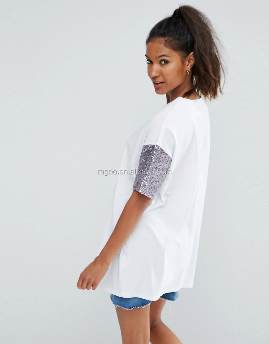Mgoo Brand Design Loose Boyfriend Style Shirt Dress Ladies T Shirt