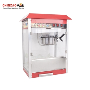China Direct Sale Iron Shell + Stainless Steel Bowl Commercial Popcorn Machine For Sale