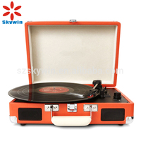 Portable Retro Classic Record Player Turntable with USB Bluetooth