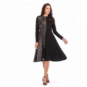 Youtube Hot Sale Long Sleeves Winter Formal Woman Dress Avenie Dress
