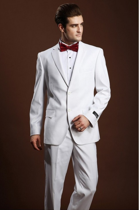 Latest White Pant Coat Design Men Wedding Suits Pictures - Buy