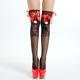 European and American Style New Interesting Long Tube Stocking female Christmas Leg Lace Knee Cute Bow High Tube Stockings