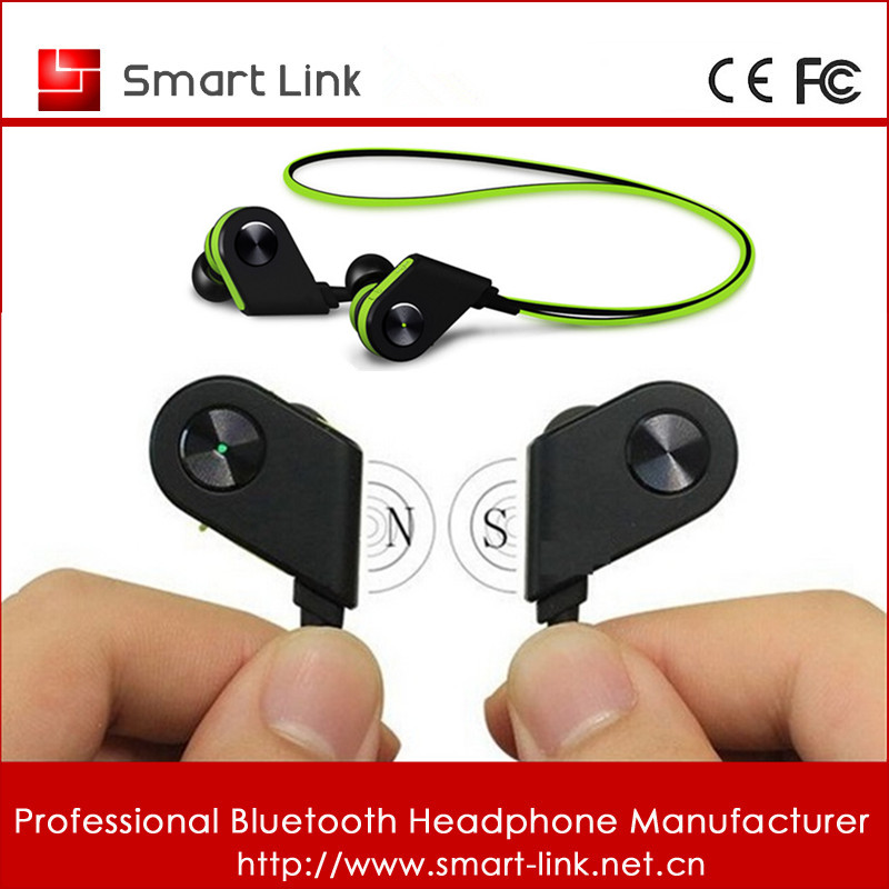 2016 magnet sport relax bluetooth stereo portable bluetooth headset support OEM service