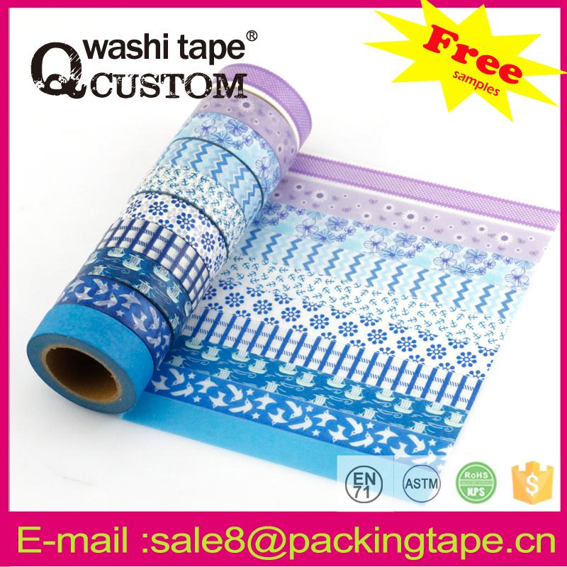 Assorted designs scrapbooking rose flower tape china product