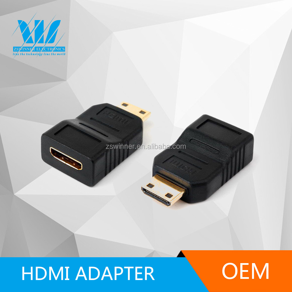 24kGOLD Series HDMI Coupler adapter,HDMI C male to C male ,component insertion machine