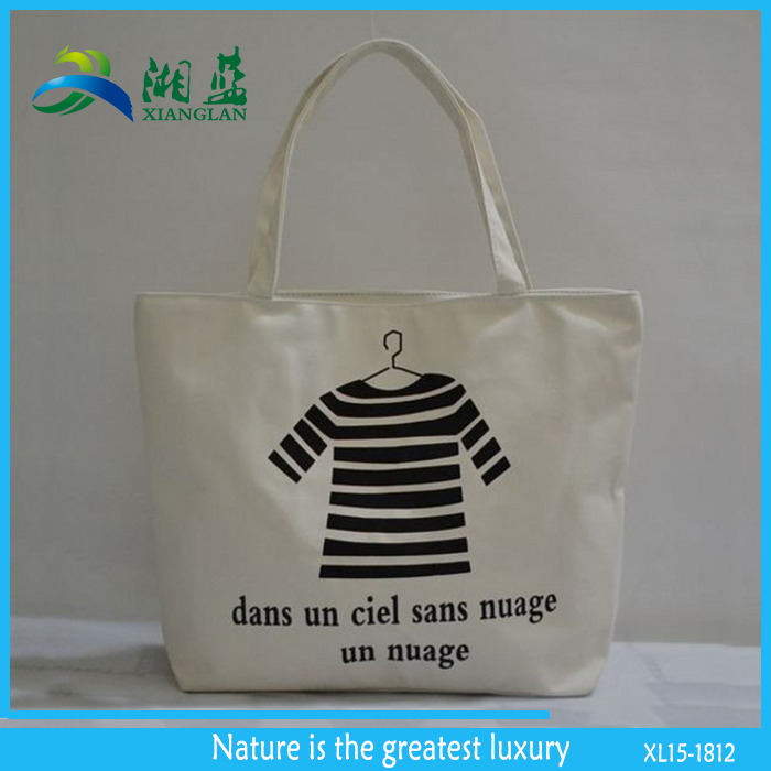 high quality cheap cotton canvas bag print, cotton customized tote bag, green shopping bag