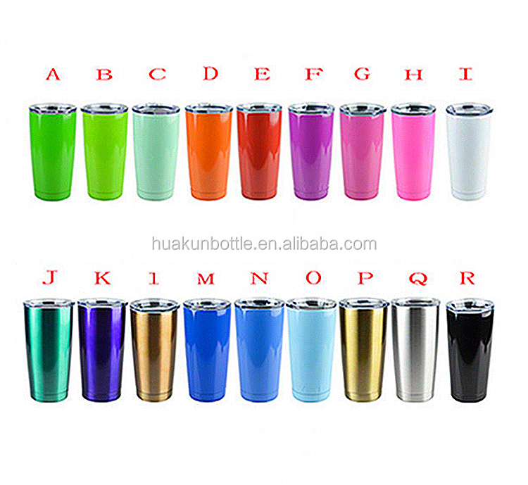 2017 hot sell double wall 20 oz stainless steel vacuum insulated tumbler