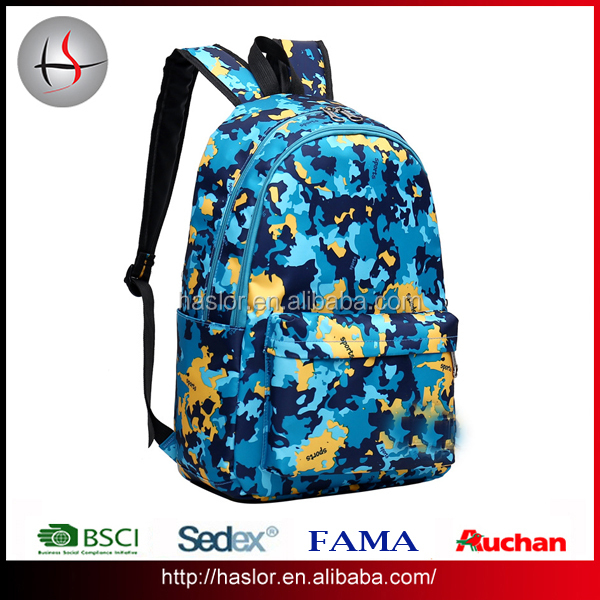 New Design Beautiful Girl Color Life Backpack for School