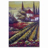 Artworks Printed On Canvas Garden Scenes Village Scenery Painting
