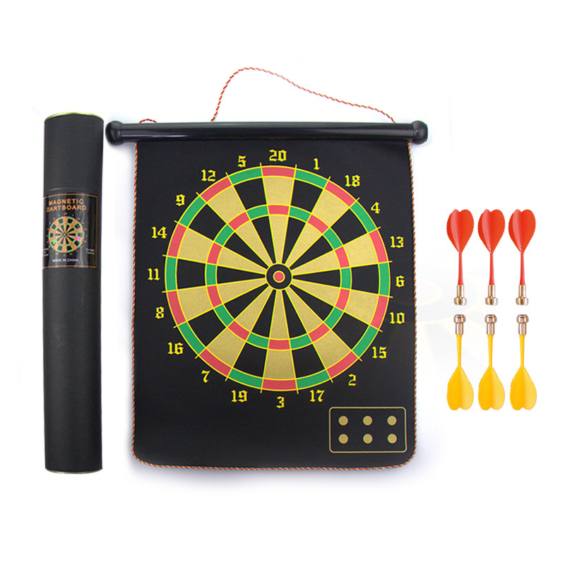 Custom Indoor Sport Portable Safety Hanging Magnetic Dart Board with 8 Flights