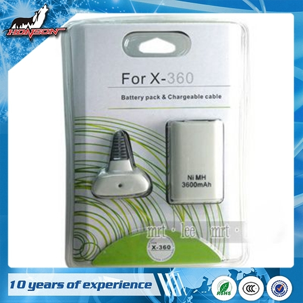 High Quality White For XBOX 360 Play Charge Battery Kit
