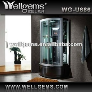 Modular shower room U686 Black Steam Room