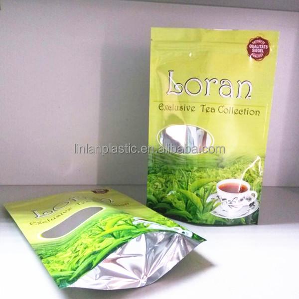 Aluminum Foil Green Tea Bag,Plastic Tea Bag With Zipper