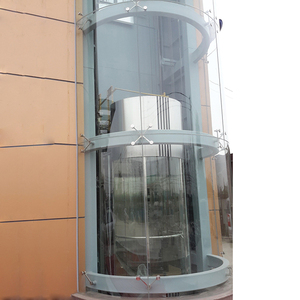 Laminated 12mm Tempered curved glass panel for Sightseeing elevator
