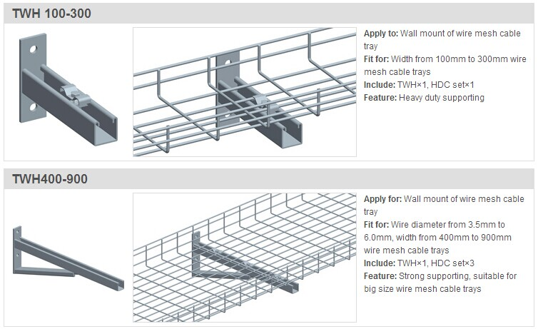 Zinc Galvanized Mounting Brackets Cable Tray Brackets In