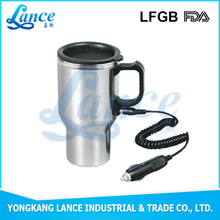 Car lover loving 450ml stainless steel 12v electric coffee mug