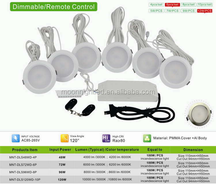 Newly Top Sell 72W 6in downlight dimmable