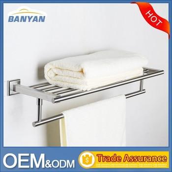 hotel design wall mounted ladder vertical towel rack for bathroom