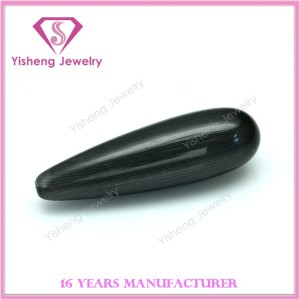 Top Hole Drilling Teardrop Bullet Shape Black Onyx Cabochon Gem Stone