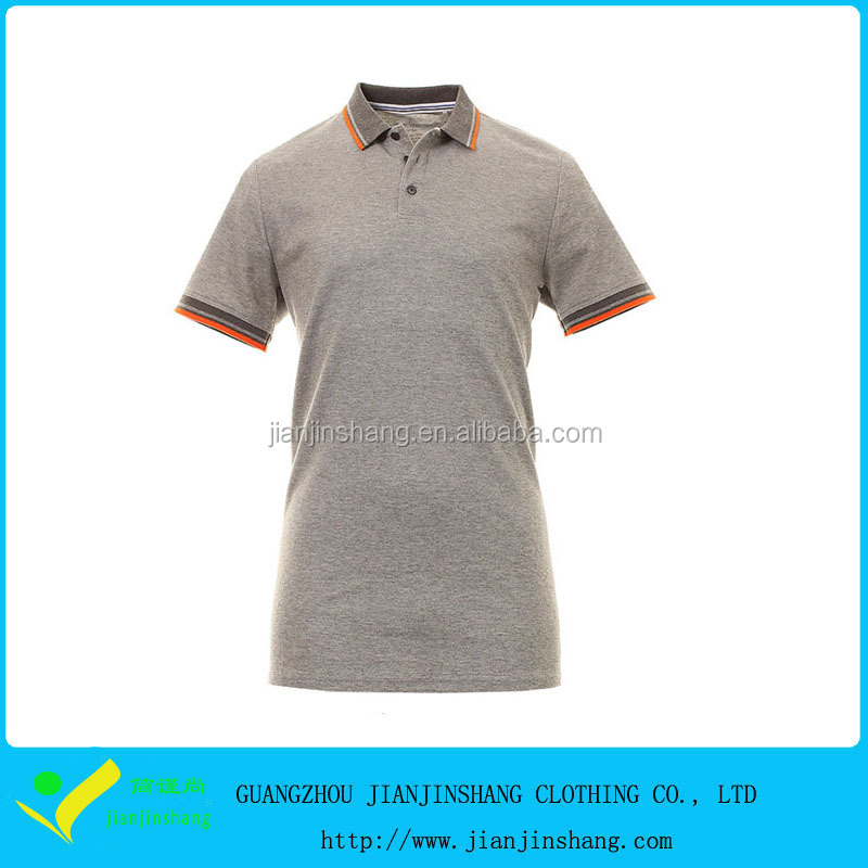 Cheapest High Quality Pima Cotton Custom Knitted Collar Golf Shirt