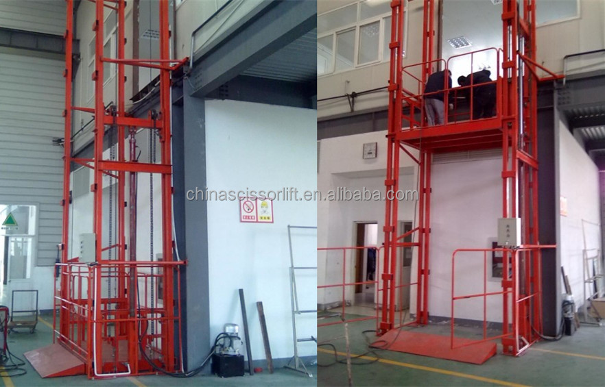 Hydraulic Warehouse Freight Elevator With Safety Protect