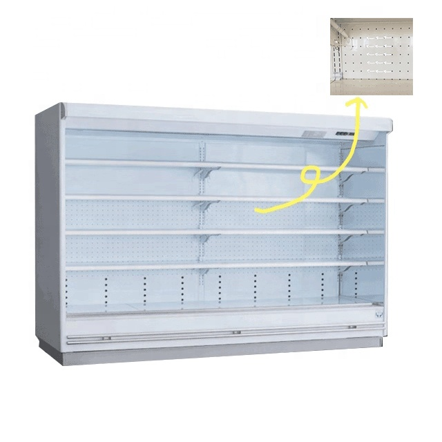 supermarket commercial double air curtain cold drink open showcase display refrigerators for fruit