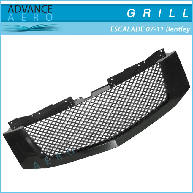 FOR 2007-2011 CADILLAC ESCALADE 3D HONEYCOMB DIAMOND MESH STYLE BLACK FRONT GRILLE