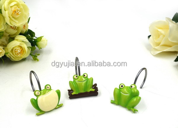Frog Polyresin Shower curtain hooks