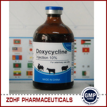 Veterinary Antibiotics Agents 10 Doxycycline Injection 100ml For Dairy Cattle Farming