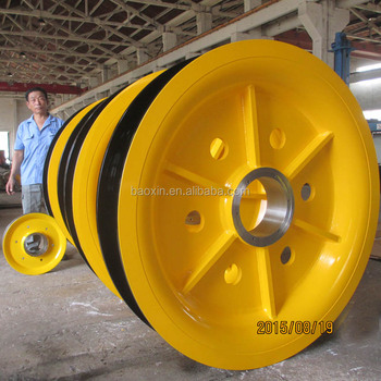 Steel Wire Rope Sheave Pulleys For Port Container Crane - Buy ...
