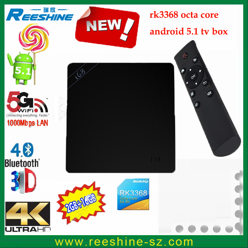Ott <strong>Tv</strong> <strong>Box</strong> hd Receiver RK3368 Octa Core 64Bit <strong>TV</strong> <strong>Box</strong> i68 <strong>Android</strong> 5.1 lollipop 2GB <strong>16GB</strong> hd video <strong>tv</strong> <strong>box</strong>