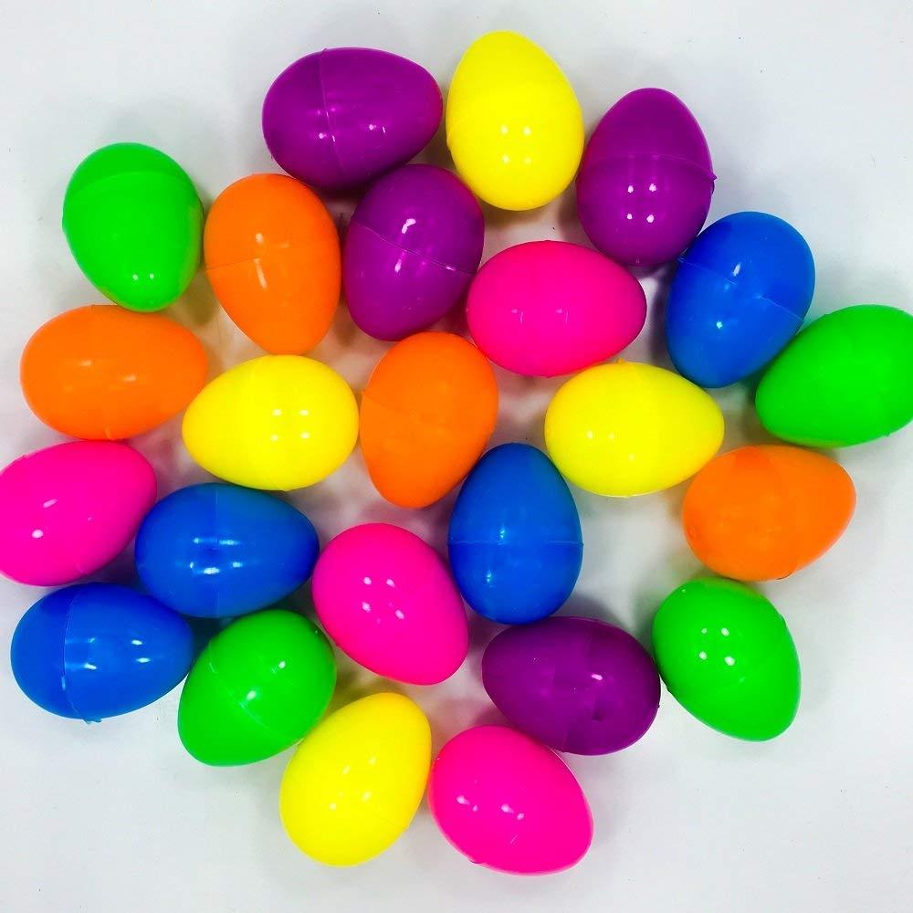 Mini Plastic Easter Eggs - 24 Pieces