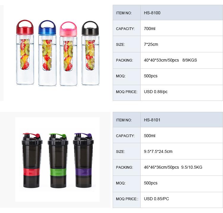 500 ml Nhựa BPA FREE Sinh Thái Số Lượng Lớn Vuông Protein Shaker Alkaline Nước Uống Chai