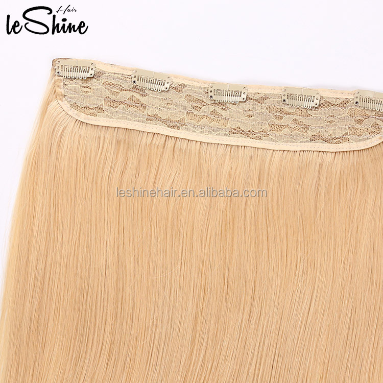 full set 8A virgin indian 20 inch quad weft clip in hair extension