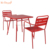 Cheap price big lots metal frame red stacking french dining table chair