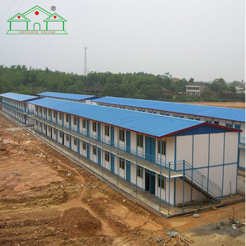 Low cost easy assembling two storey labor camp prefab homes