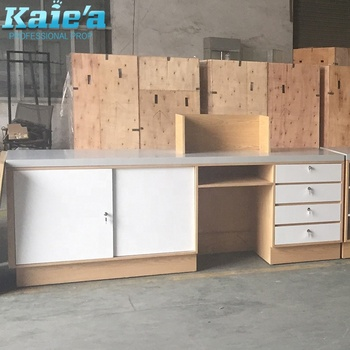 Retail Wood Shop Counter Table Design View Retail Wood Shop Counter Table Kaierda Product Details From Foshan Kaierda Display Rack Co Ltd On