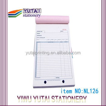 clear copy carbonless bill book printing customized buy bill book