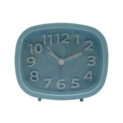 Table Use 3D Index Alarm Clock Oval Shape