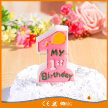 Birthday Number 1st Happy Birthday Candles Alphabet Chinese Manufacturer