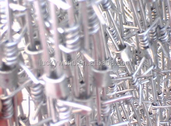 Electric galvanized and hot dipped zinc plating barbed iron wire and pvc coated barbed iron wire