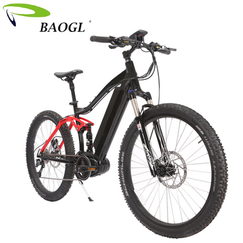 36V 350W Bafang BBS02 Mid Drive Motor Full Suspension electric E MTB velo  electrique wholesale, View velo electrique, BAOGL Product Details from