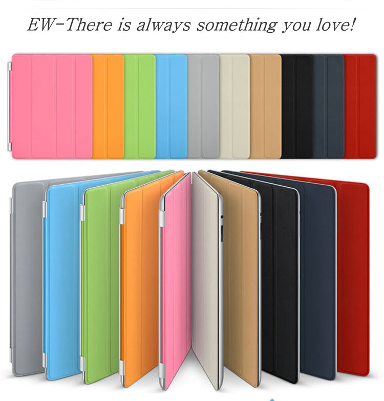EW case for Apple iPad 4 3 2 Mini for iPad Air 5 6 Generation PU leather Stand Smart Case Cover