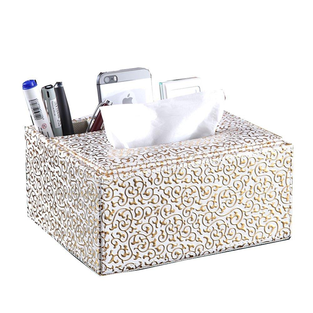 Hflove European High-end Desktop Storage Box with Tissue Box (pattern 1)