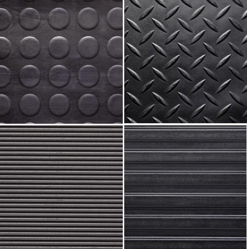 Anti Slip Fine Thin Narrow Ribbed Corrugated Rubber Sheet