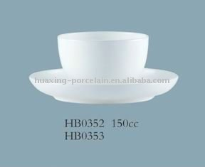 HB0352 round shape high quality 46% bone china teacup with saucer